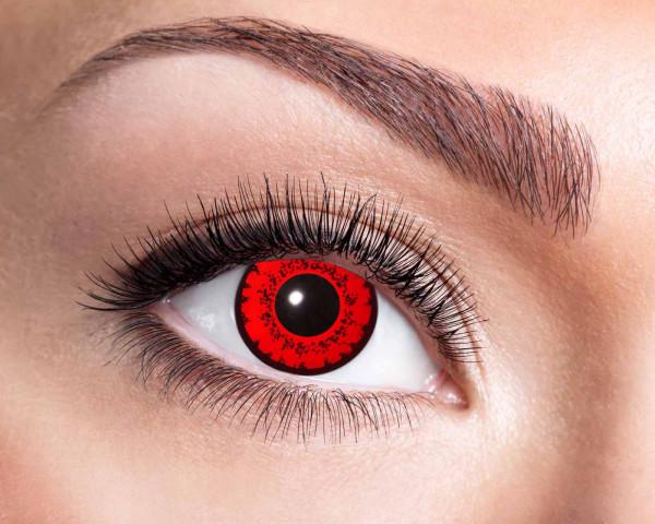 Kontaktlinsen 'Red Fever'