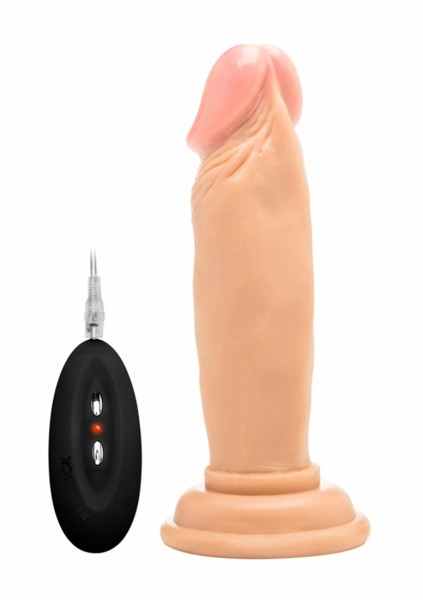 Realistischer Vibrator mit Venen hautfarben hell 6 Inch -