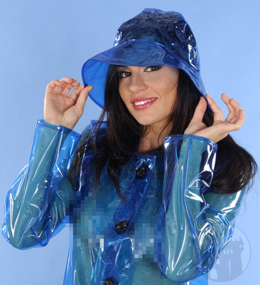 PVC Mütze blau
