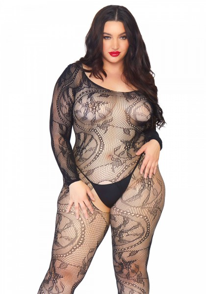 Bodystocking 'Spiral Lace' - Queensize 1