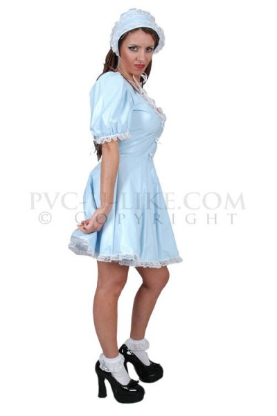 PVC Minikleid mit Spitze für Männer | PVC Uniformen | PVC ...