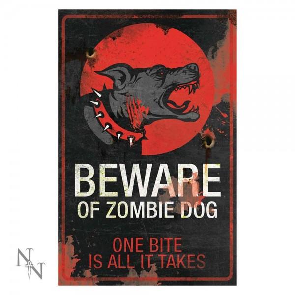 Schild 'Zombie Dog'