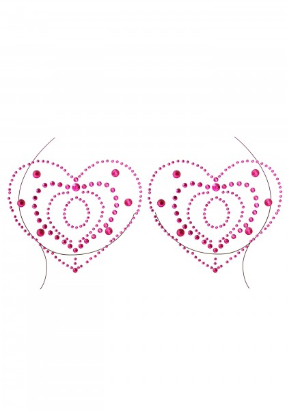Nippelaufkleber in Herzform