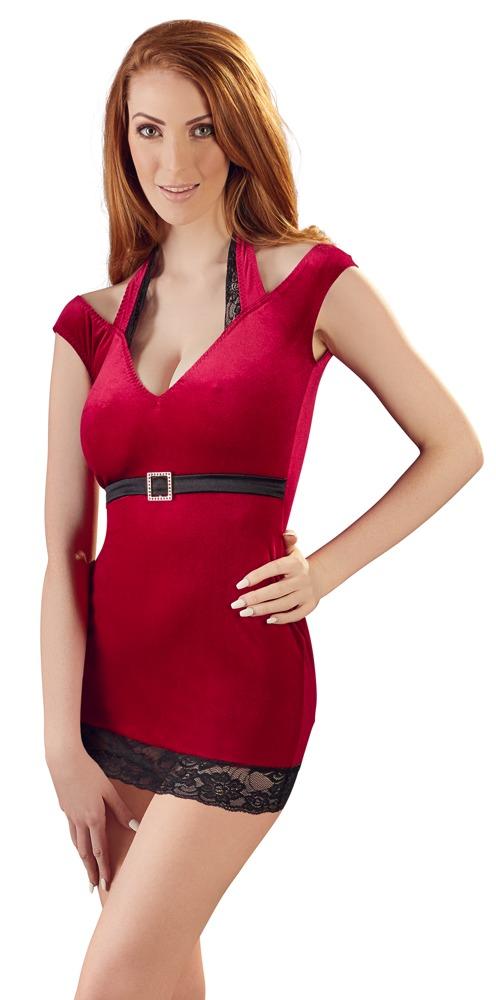 Samt-Minikleid - rot | Kleider - kurz | Sexy Damenkleidung ...