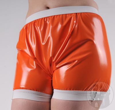 PVC Shorts für sie & ihn orange