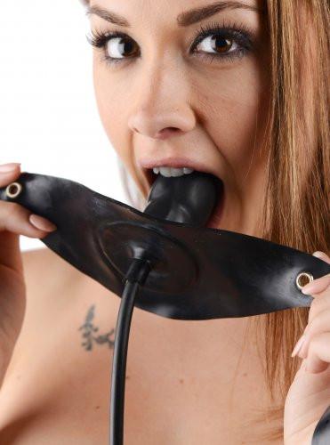 Penis geformter Knebel - aufblasbar