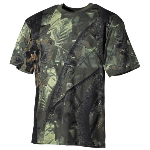 US T-Shirt halbarm in hunter-grün