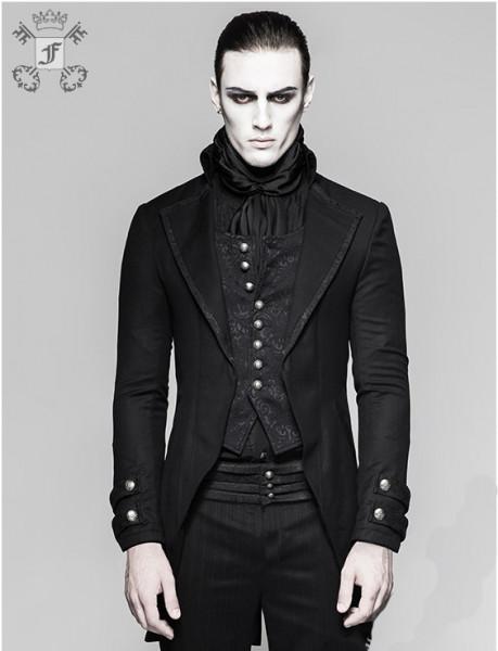 Jacke mit Knöpfen und längerer Rückseite