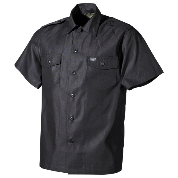 Freizeithemd mit Schulterklappen - Schwarz 2