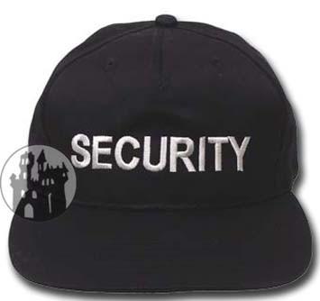 US Cap 'Security' mit Schild - größenverstellbar