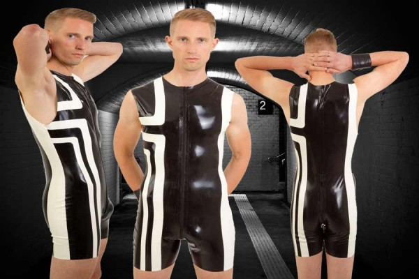 Latex Sportsuit 'Right Angle'