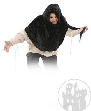 Poncho aus Samt mit langer Zipfelkapuze, noch mehr mittelalterliche Gewandung im Mittelaltershop