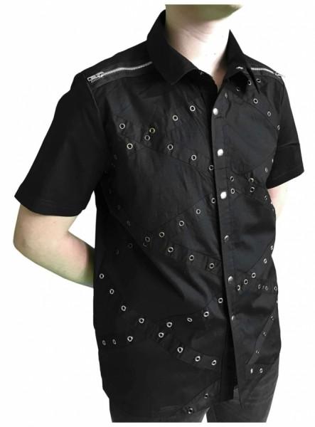 Punk Hemd mit Ösen