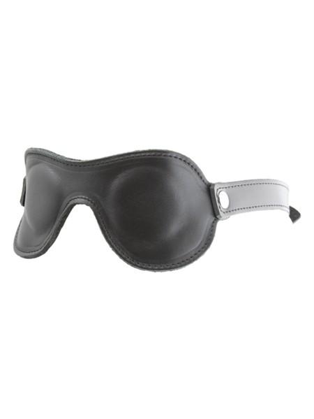 Simple Augenmaske aus Leder