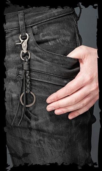 Schlüsselanhänger mit Fransen