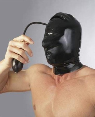 Latex Maske aufpumpbar