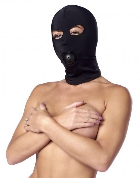 Elastische Kopfmaske mit Mundknebel