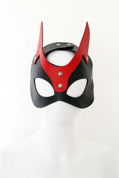 Leder Maske verstellbar