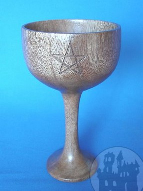 Holzkelch Pentagramm