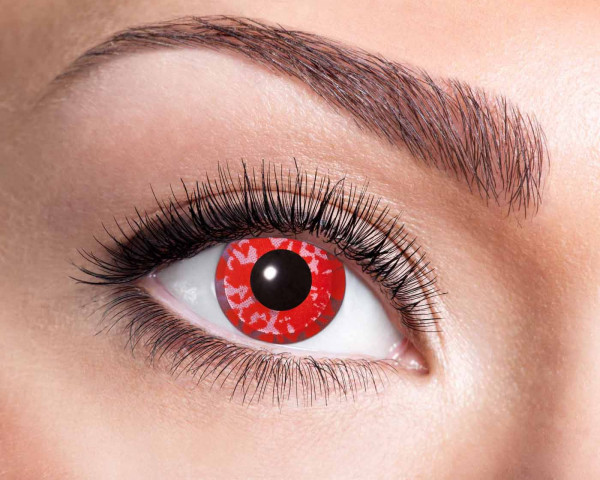 Kontaktlinsen 'Red Flower'