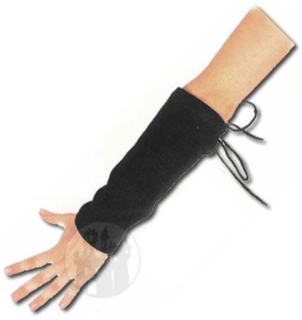 Armstulpen mit Schnürung - kurz