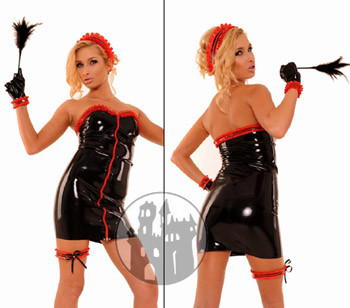 Latex Kleid Maids Dress