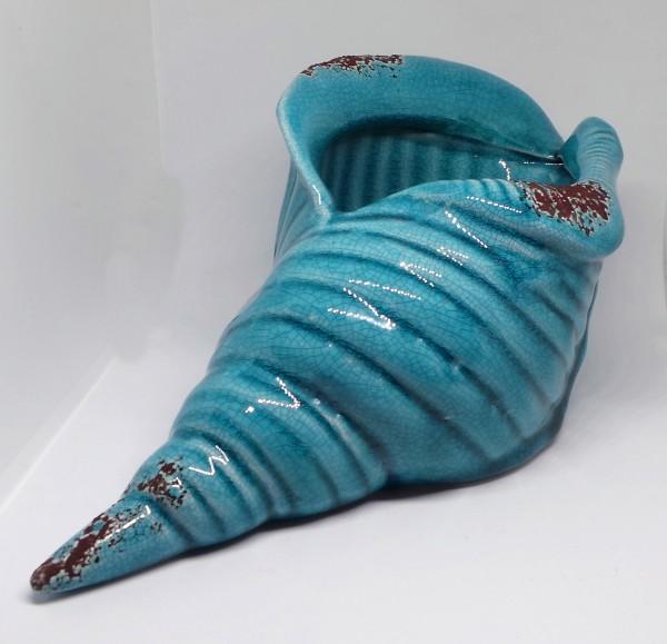Keramik-Muschel blau