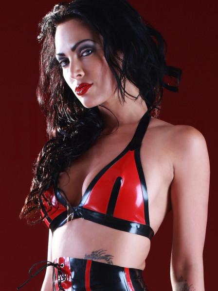 Latex Triangel-BH rot-schwarz 2