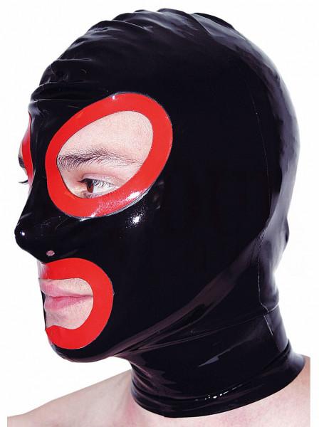 Latexmaske mit offenem Mund und Augen 2