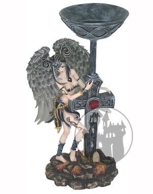 Kerzenhalter 'Dark Manga-Angel'