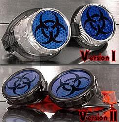 Cyber - Schweißerbrille mit Biohazard- Symbol