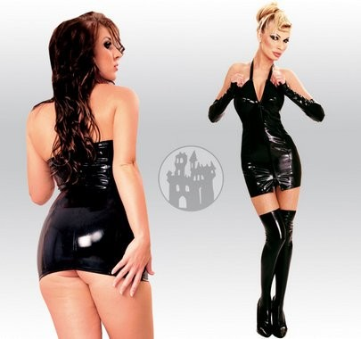 Latex Overknees mit Zipper aus Latex-Hybridmaterial