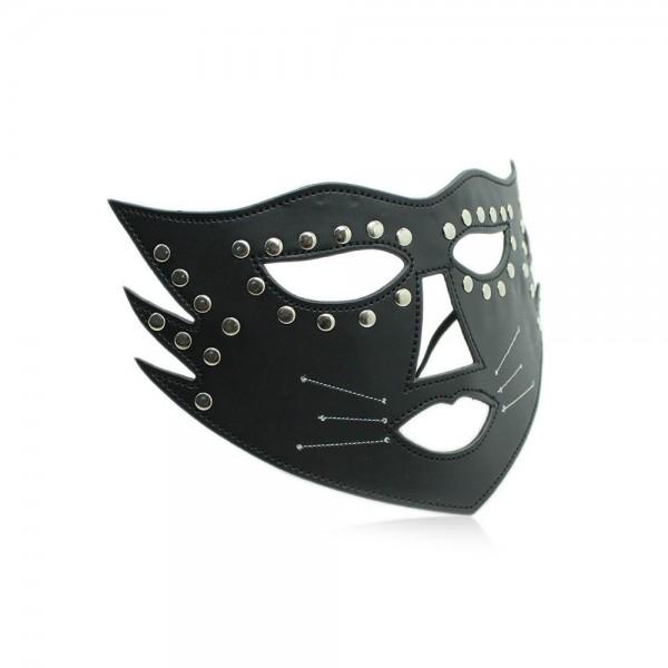Katzen-Maske mit Nieten