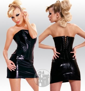 Latex Minirock aus Latex-Hybridmaterial