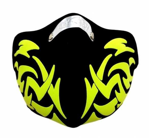Biker Mundschutz Yellow Tribal