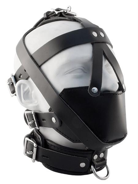 Leder Kopfharness 'Muzzle'