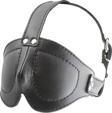 Augenmaske mit Riemen - Leder