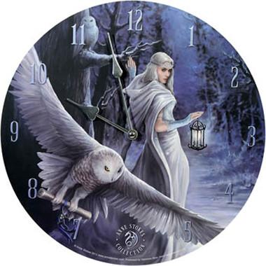 Uhr Midnight Messenger - entworfen von anne Stokes