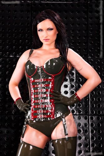 Latex Korsett mit Cups