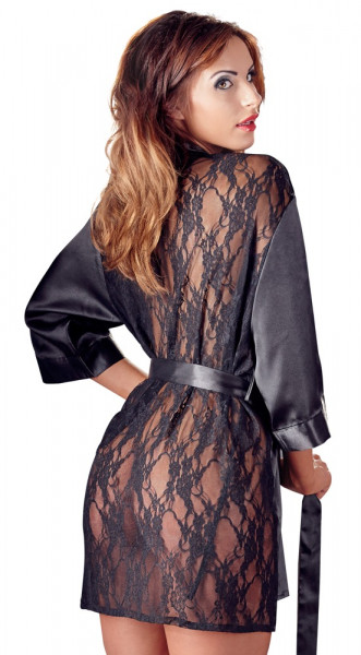 Glänzender Spitzen-Kimono