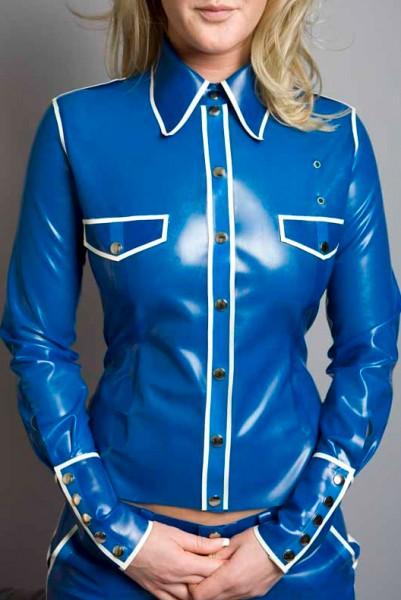 Latex Military Shirt für Damen