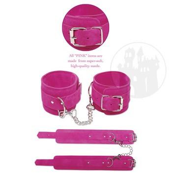 Pinke Fesseln, Pinke Peitschen, Pinke Paddel, Pinke Augenmasken und Pinke Knebel finden Sie im Pinkfetish shop