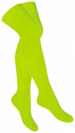 Basic Overknee Strümpfe in Neonfarben neon gelb