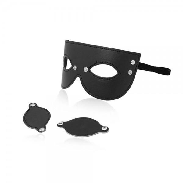 Maske mit abnehmbaren Augenklappen