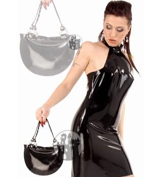 Latex Handtasche mit kurzen Trägern