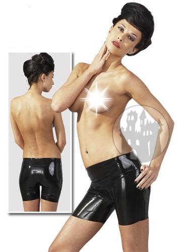 Latex Hotpants schwarz