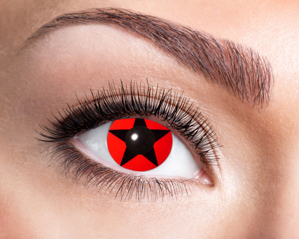Kontaktlinsen 'Red Star'