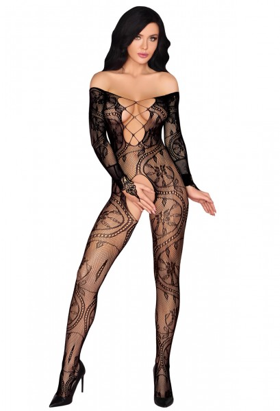 Bodystocking mit Muster ouvert - vorne
