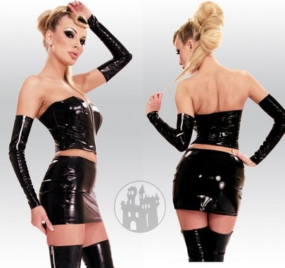 Latex Rock mit Zipper aus Latex-Hybridmaterial