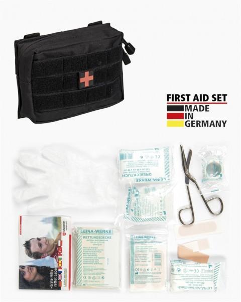 Erste-Hilfe-Set mit Tasche schwarz